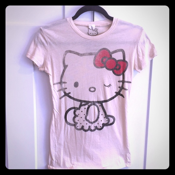 a6c09331a Mighty Fine Tops | Vintage Hello Kitty Tee Distressed Print | Poshmark